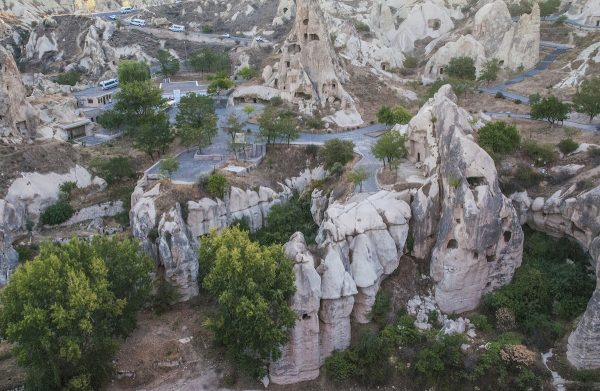 Floating above the Open Air Museum which has many rock-cut churches