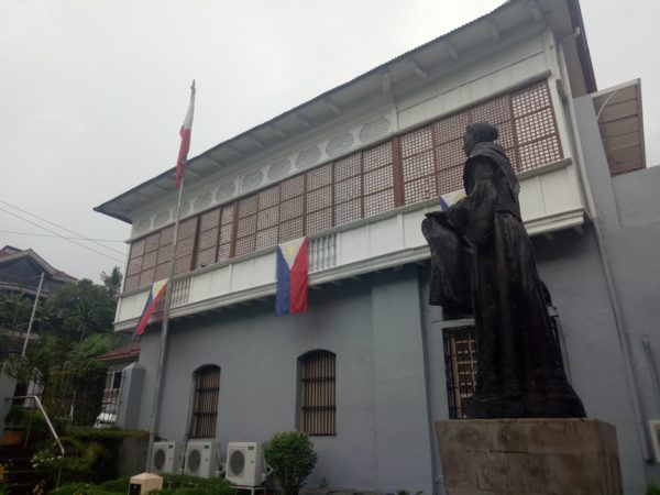 Marcela's monument in beside their ancestral house.