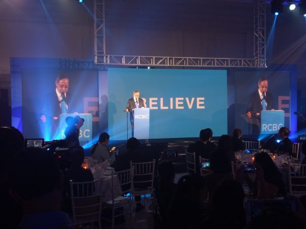 RCBC President and CEO Gil A. Buenaventura heads the launching of the new tagline.