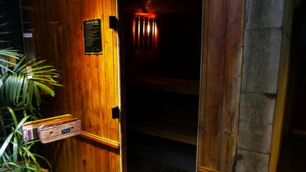 Sauna which smelled of freshly baked bread