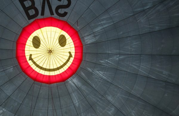 That's the smiley right at the top which can be closed or opened to control ascent and descent
