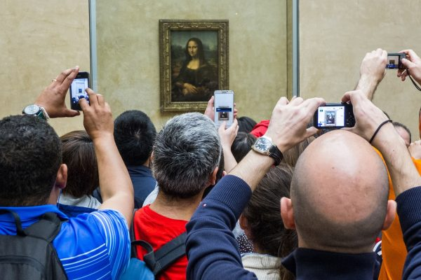 The heavily guarded Mona Lisa Painting