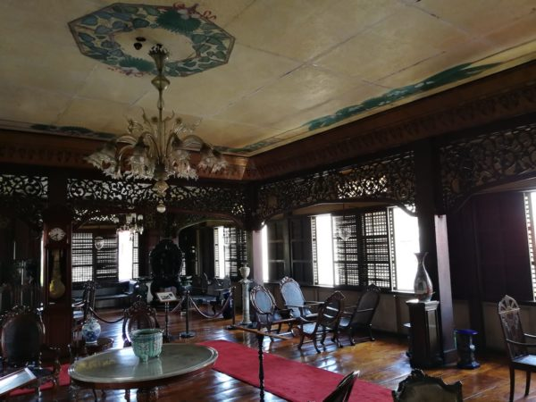 A collection of old furnitures inside Casa Manila