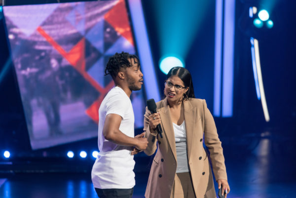 Jermaine Fowler and Lilly Singh during The Lilly Singh Gala -credit Nicholas Abou
