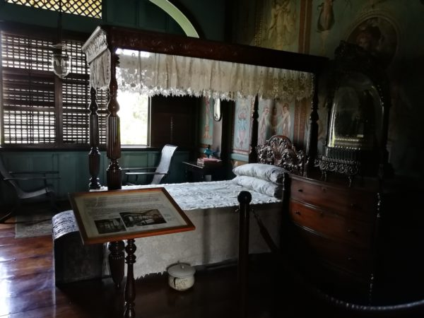 One of the bedrooms inside Casa Manila