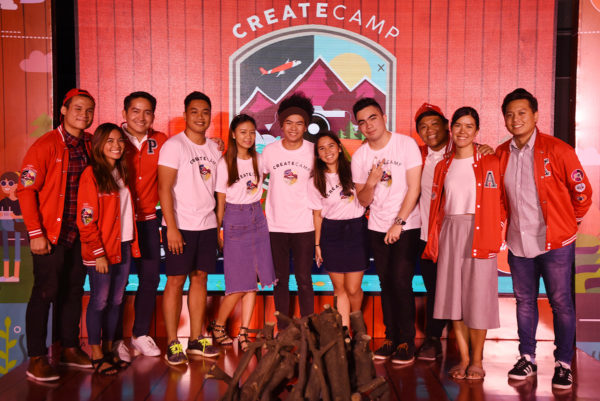 Mentors (in red jackets) the Finalists (in white t-shirts) (L-R) Enzo Cruz, Rachel Halili, Patrick Martin, Jaip Saluba, Beatrice Paragas, Paolo Garrido, Cara Durano, Ray Baguilat Pao Cuarteron, Ayen dela Torre and Kyrke Jaleco