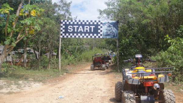 Starting line of the Buggy adventure