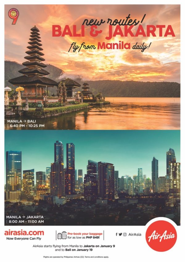 AirAsia Now Has Flights From Manila Going To Jakarta, Bali And Ho Chi Minh City