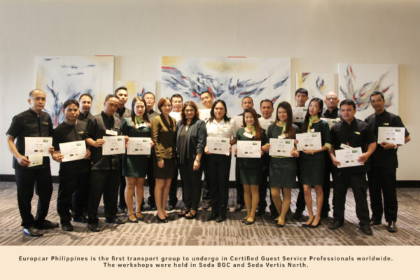 Europcar Philippines attended Certified Guest Service Professionals Workshop