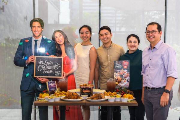 Fill your holiday gatherings with the Kenny Rogers Epic Christmas Feast. Good for 8 people at just Php 2,400. This was launched by the KR Marketing Team last October 16, 2017 (L-R) Bea Saldua, Romar Padua, Mackis Tuazon, Carlos Vergara.