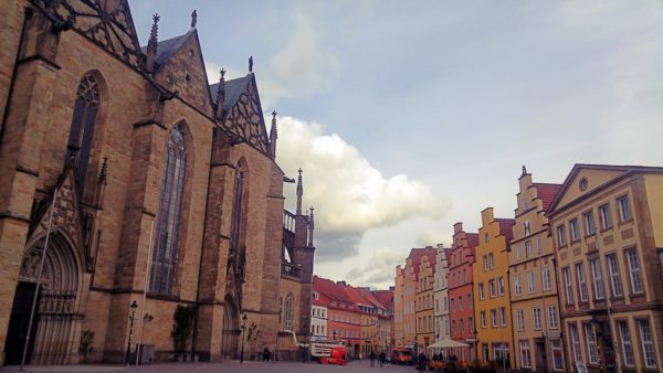 Marktplatz with the Marienkirche on the left.
