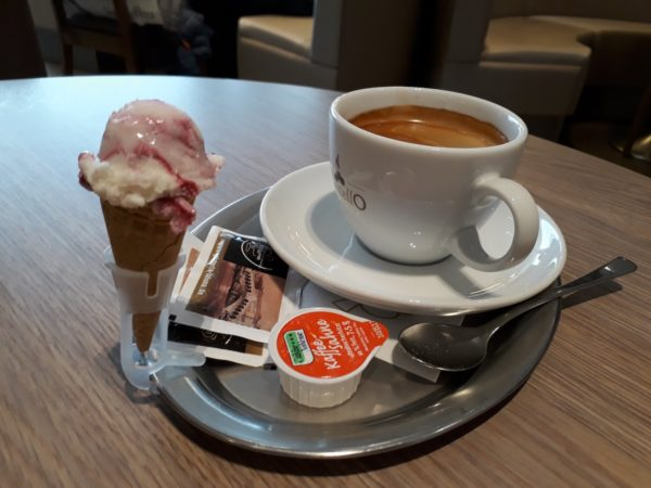 Coffee with a side of gelato from Eiscafe La Luna