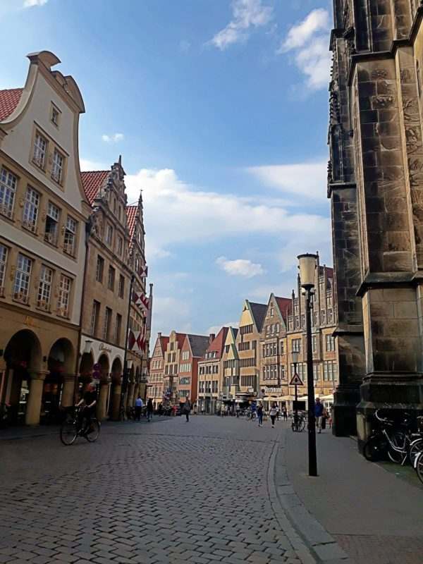 Looking at Prinzipalmarkt for the first time