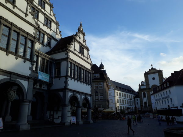 The Rathaus, the Rathaus Passage, and the Jesuit Church in one photo