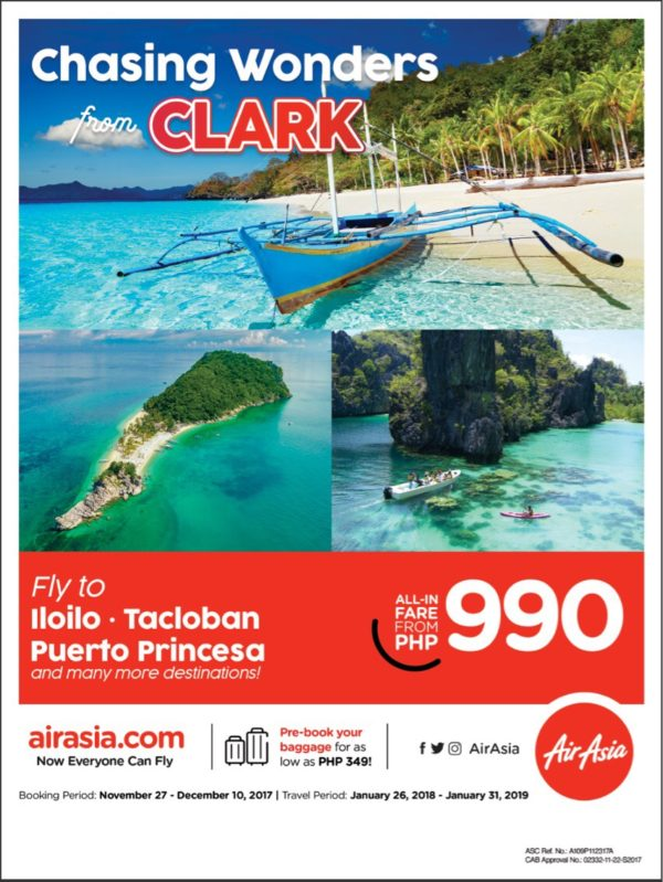 AirAsia Adds More Domestic Flights To and From Clark Airport in Pampanga
