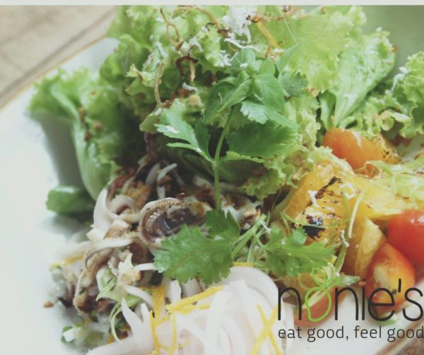 Grilled Squid Salad by Nonie's fb page