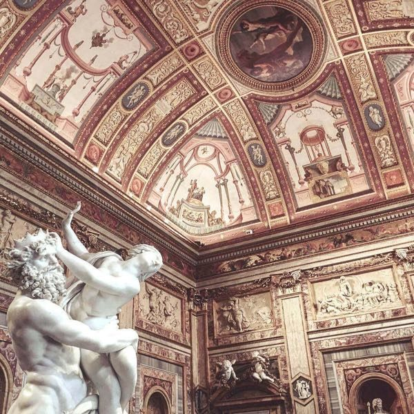 The ceiling of Borghese gallery