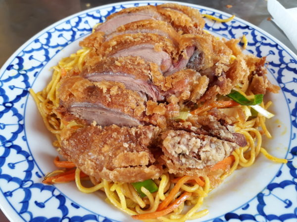 Fried noodles with Crispy Duck
