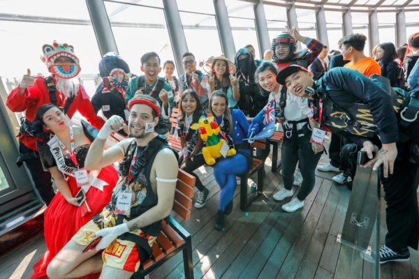 "Crazy Jump Day - Twenty-three participants from across Asia Pacific battled it out in ""AirAsia Destination"" theme costumes at Crazy Jump Day 2017 at Macau Tower."