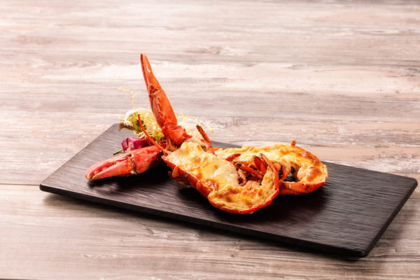 Baked Canadian Lobster with Cheese