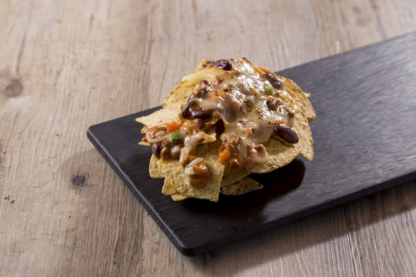 Nachos with Mexican Spicy Sauce