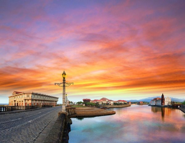 Sunset at Las Casas Filipinas de Acuzar photo via FB Page