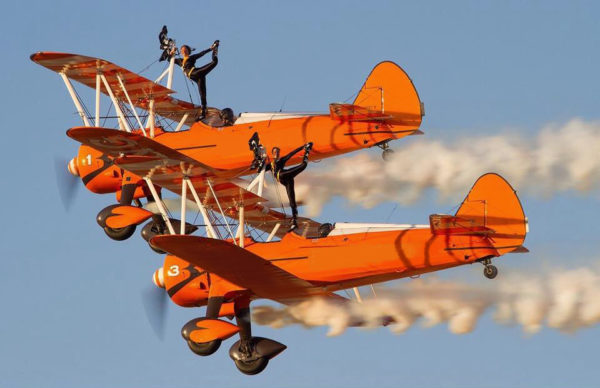 Aerosuperbatics Wingwalkers performing for the first time in Philippine skies