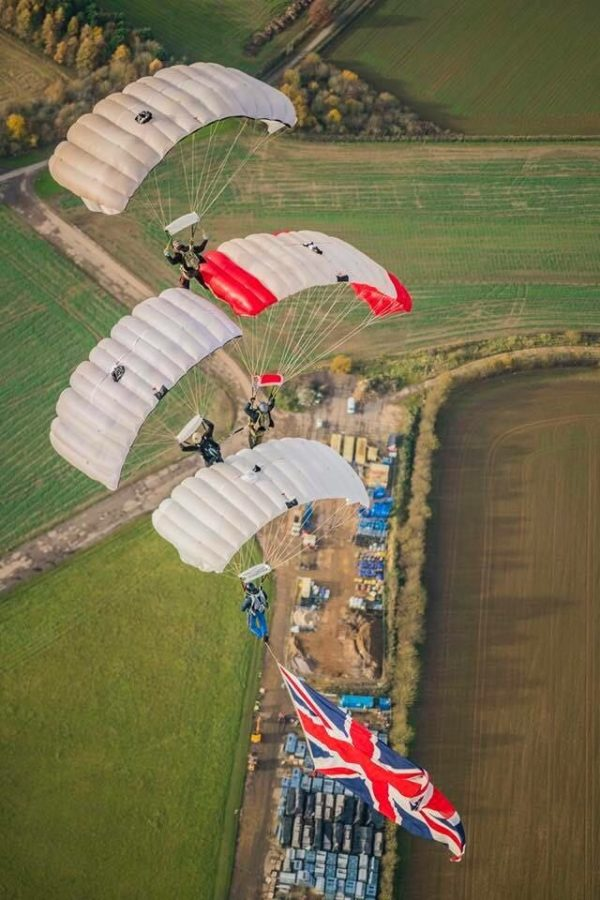 British Skydivers will be seen at the Fiesta