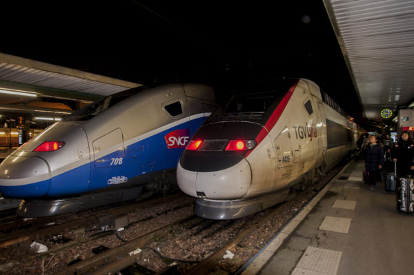 Arriving in Gare de Lyon from Basel, Switzerland late at night.