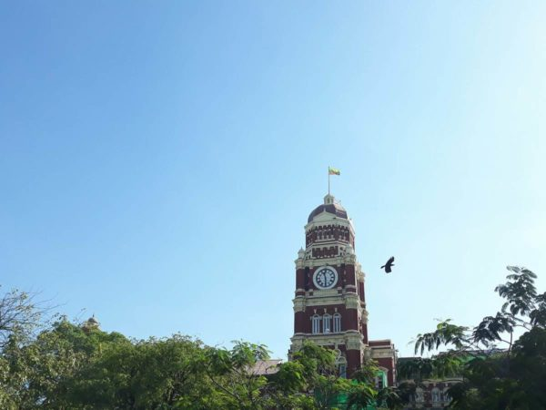 Clock Tower of Yangon's High Court built during the British colony.