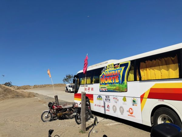 Our Victory Liner Lakbay Norte 7 Bus at La Paz Sand Dunes