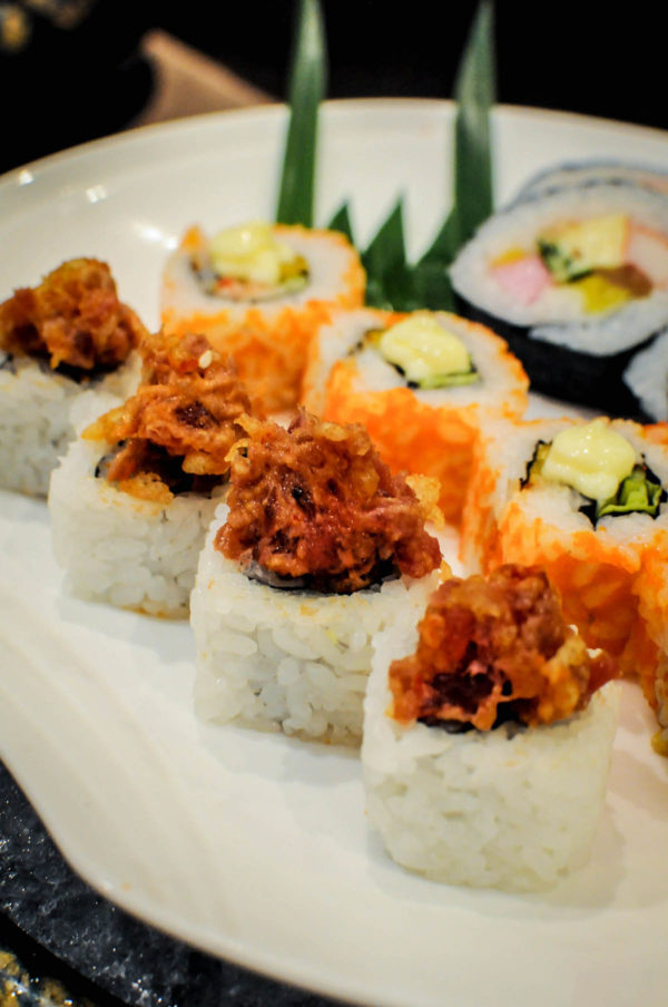 Rolled sushi choices are a-plenty at Kitsho