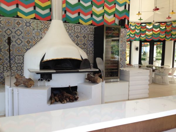 The authentic Neapolitan style oven of Brezza restaurant. This authentic Italian-style oven can churn out a thin crust pizza, Neapolitan style, in just 90 seconds!