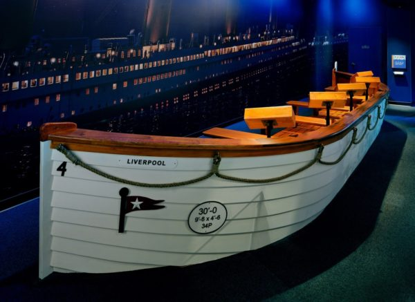 The life-size boats are also inside the Titanic Museum.