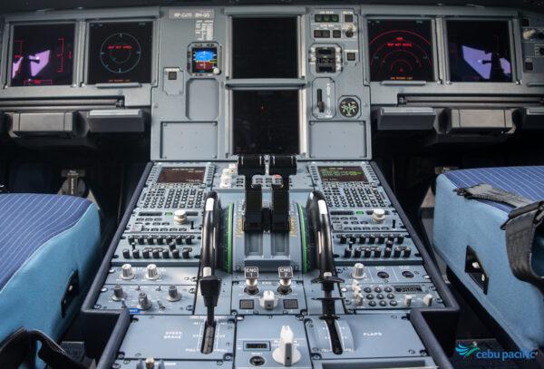 Cockpit of Cebu Pacific Airbus A321 Aircraft
