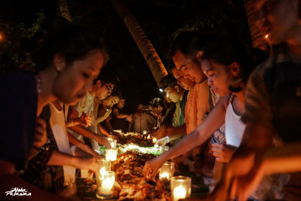 Boodle fight on our last night in the island.