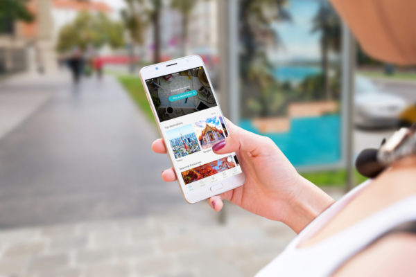 Plan Your Dream Travel With KKday Travel booking website in mobile phone screen