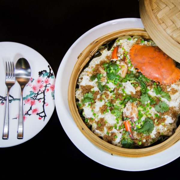Steamed Glutinous Rice with fresh crab meat photo via Pagoda Chinese Restaurant FB Page
