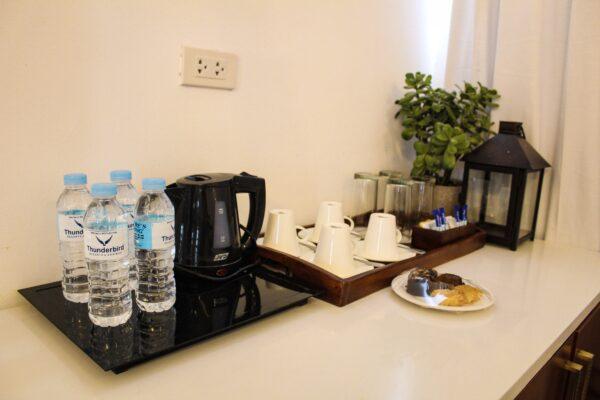 Coffee and tea-making facilities.