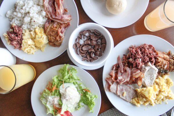 Breakfast at Olives Restaurant.