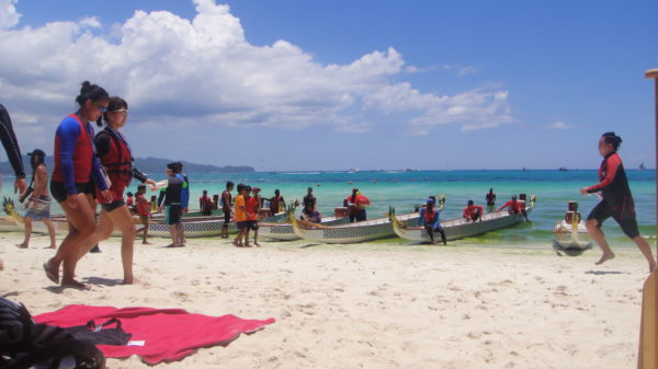 Dragon boats ready for the annual Boracay International Dragon Boat Festival -Things to do in Boracay Before the Closure