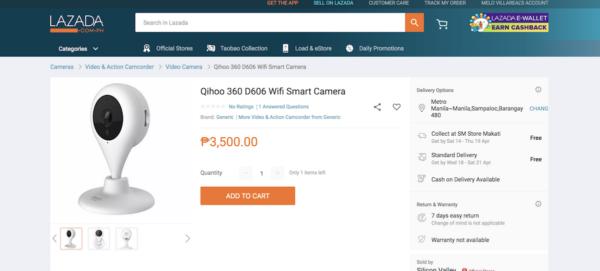Qihoo 360 D606 Wifi Smart Camera Review