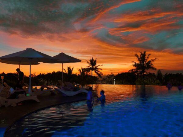 Sunset at Sheraton Kuta Bali Poolside