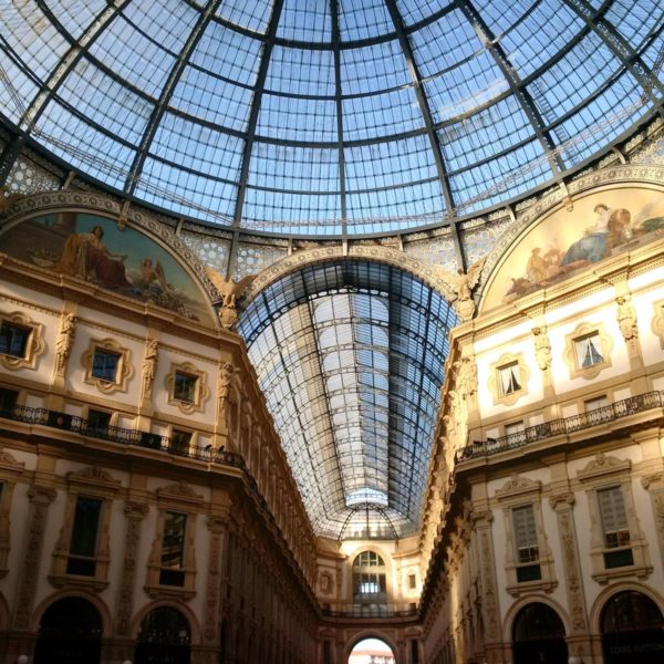 The glass dome roof of Vittori Immanuele II - Tour Milan in a Day