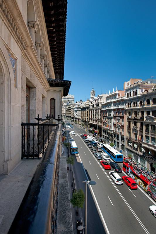 View from the Veranda of Hotel Catalonia Gran Via