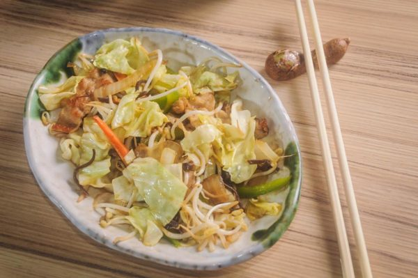 Yasaiitame, sauteed fresh vegetables, is just one of the many Kitsho dishes using the freshest farm produce.