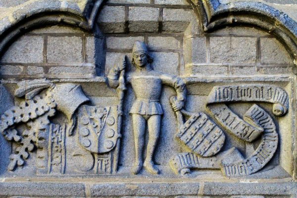 stone carvings - walls of Avila Spain