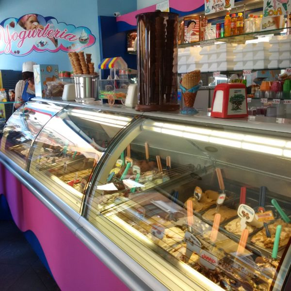 An inviting gelateria in town