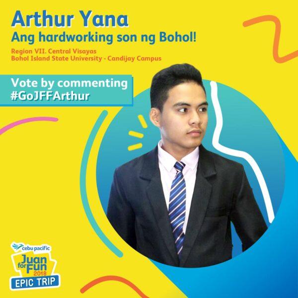 Arthur Yana from Bohol - Juan for Fun 2018