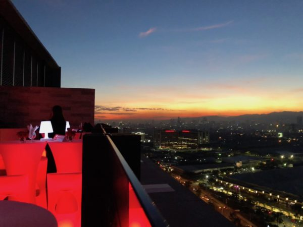 Sunset View from Twilight Roofdeck Lounge and Bar - Bai Hotel Cebu